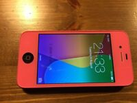 Iphone 4 Unlocked in New Pink Chassis
