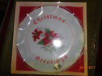christmas greeting plate
