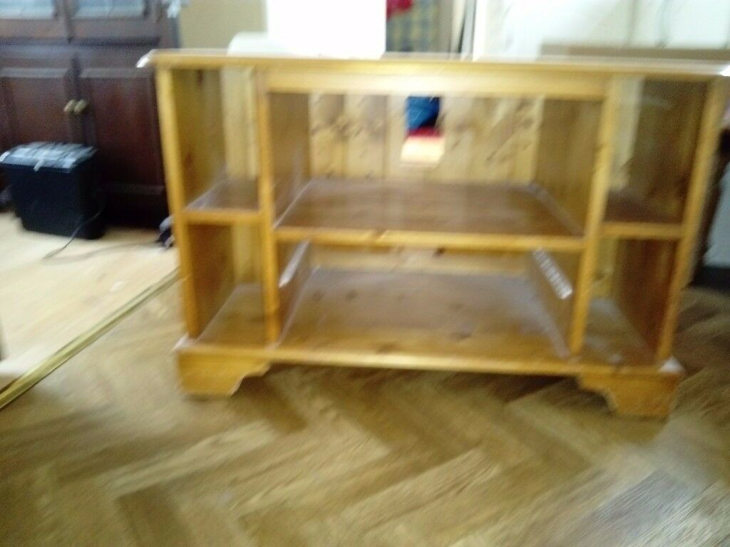 Wood television stand