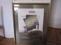Original art product of BACH in gold frame