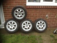 4 x BMW Mini pepperpot wheels - price reduced for quick sale
