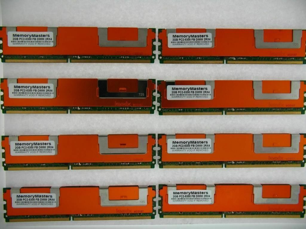 "2008 1 YEAR WARRANTY 16GB 8x2GB Ram Kit for Apple Mac Pro /""Eight Core/"" 3.2"