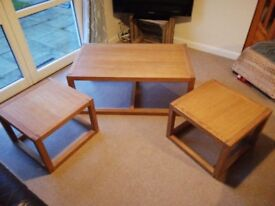NEXT Solid Oak coffee table set