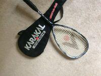 Karakal Squash Racket with case (Hardly Used)
