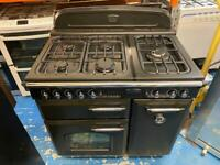 Black range master 90cm gas cooker grill & double ovens good condition with guarantee