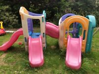 Little tikes 8 in 1 climbing frame with slides - endless fun for little children