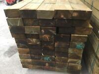 X50 wooden railway sleepers 190x90x2400mm Pressure Treated