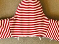 IKEA high chair cushion and cover and toy