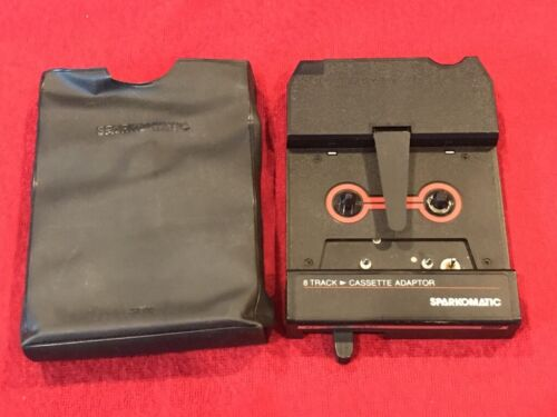 Sparkomatic Cassette To 8 Track Adaptor with Cover - Japan - TESTED