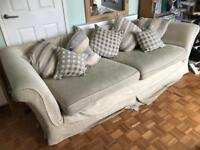 Free beige and duck egg blue sofa 3-4 people