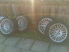 "Bmw 17"" genuine wheels"