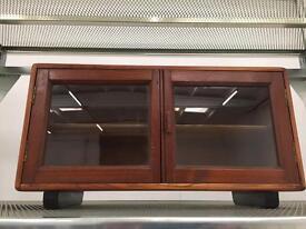 Stunning vintage antique solid wood display case.