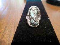 S925 silver and tourquoise Navajo native American ring.