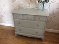 Vintage Stag 5 Drawers Chest Sideboard Shabby Chic Painted Farrow & Ball
