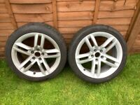 2 genuine Audi A5 wheels with one tyre