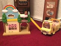 Sylvanian Families Rainbow Nursery with School Bus and Accessories