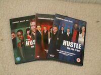 HUSTLE DVD's, series 1,2 & 3