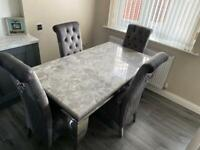 Louis solid marble dining living kitchen table brand new South Shields