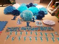 1st bday baby boy decorations