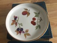Royal Worcester Evesham Gold Shortbread Tray