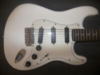Fender Squier Hot Rails Stratocaster Electric Guitar with Seymour Duncan Design.