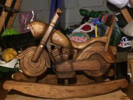 Wooden rocking Bike rocking horse