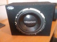 Kenwood sub and amp