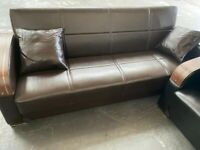 NEW 🌟🌟 LEATHER SOFA BED 3 Set ♐♐ Book It Now!!! cash on Delivery