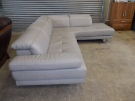Genuine Natuzzi Italian Full Hide Leather Corner Suite (Sofa)