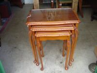 Nest of Tables - yew wood style