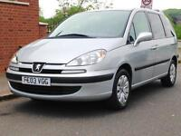 PEUGEOT 807 2.0 HDI 7 SEATER SUPER LOW MILEAGE FULL YEARS MOT 3 MONTHS WARRANTY