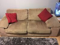 A 3 Seater & 2 Seater Sofa and footstool.