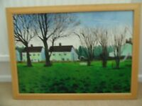 PAINTING original oil painting DEREHAM PARK ON CANVAS with frame by artist D Brown