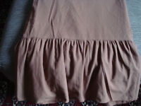 Double bed valance sheet, brown, machine washable polycotton, in excellent condition