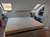 Super king Mattress and frame with storage