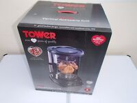 TOWER T14005 ROTISSERIE GRILL 1500W - IDEAL FOR KEBABS AND CHICKENS