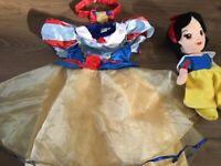 Disney shop snow white baby dress and headband 12-18mths