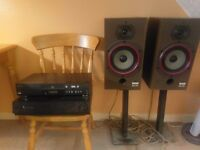 B&w dm110 speakers with ar03 amp and cd player