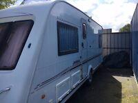 2003 Elddis Crusader Aurora 4 berth touring caravan, single axle, fixed bed, alloy wheels. Reduced!!