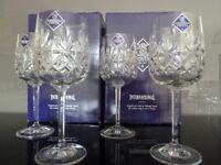 "4 x Edinburgh Crystal 'Berkeley' Wine Glasses 18.8cm (7.3/8"") tall"