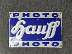 Hauff photo emaille bord