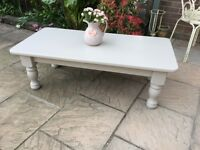 Country Farmhouse heavy Solid Pine Painted Coffee Table