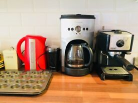 household goods for sale (espresso machine, microwave...)