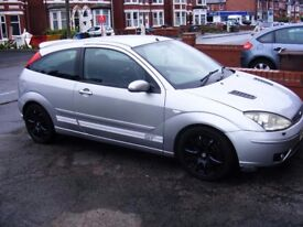 2003 Focus ST170 6 speed 170bhp MOT till June 2018 3 door in Silver with Black Leather may take PX