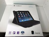 Logitech iPad Air Case with integrated keyboard, black