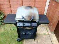 Outback Two Burner Gas Barbecue And Gas Cylinder
