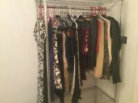 JOB LOT RAIL FULL OF LADIES CLOTHES AND LINGERIE SOME DESIGNER SIZE 10-12