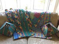 Bedding, curtains, lightshades