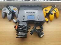 Nintendo 64 With All Leads And 2 Controllers