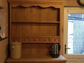 Handmade bespoke antique pine farmhouse Welsh kitchen dresser